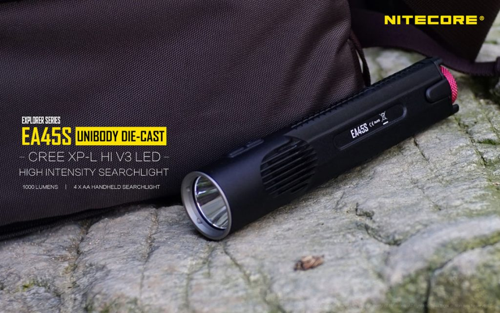 nitecore ea45s 1000 lume flashlight