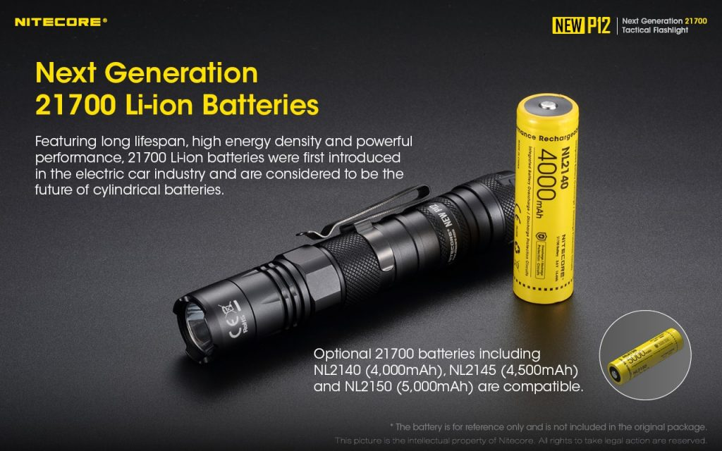 21700 flashlight nitecore new p12