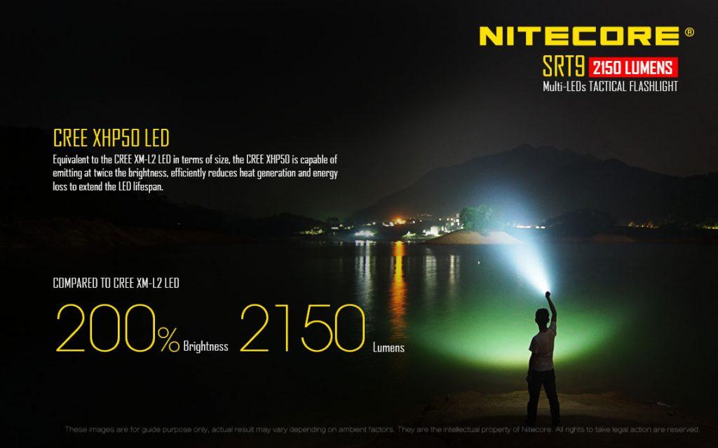Nitecore SRT9 Brightest Tactical Flashlight