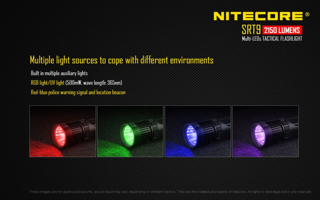 Nitecore SRT9 Built-in Auxiliary Lights
