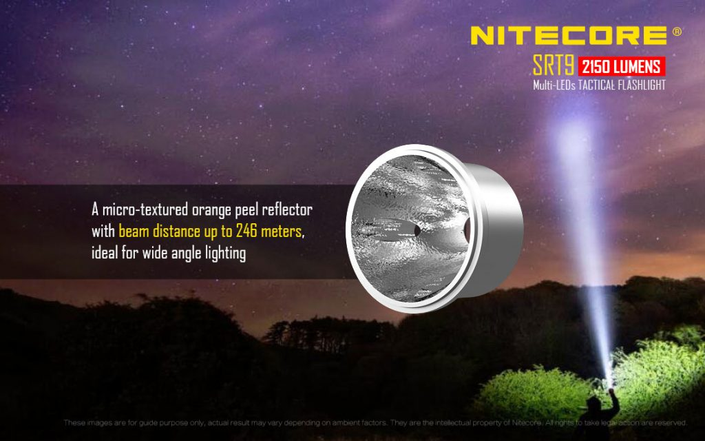 Nitecore SRT9 Orange Peel Reflector