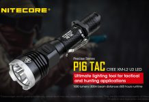 Nitecore P16 tac flashlight