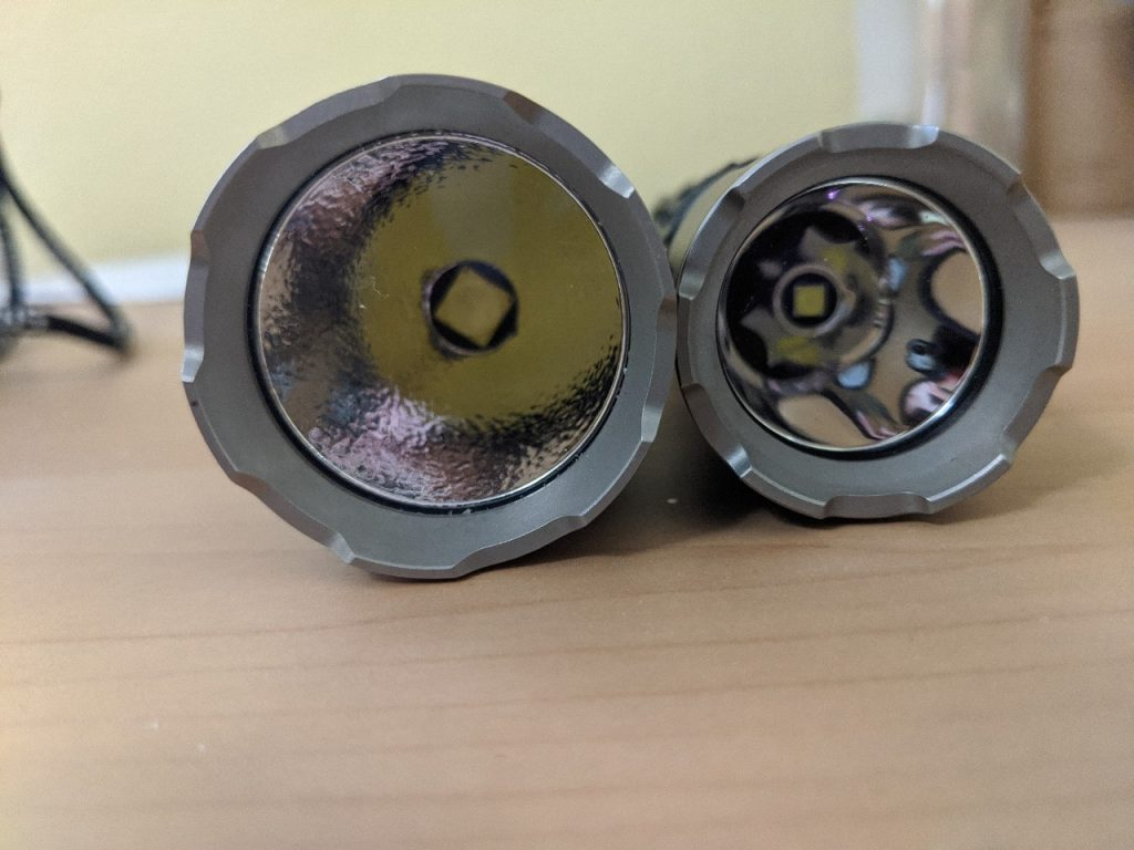 difference in reflectors klarus led flashlights