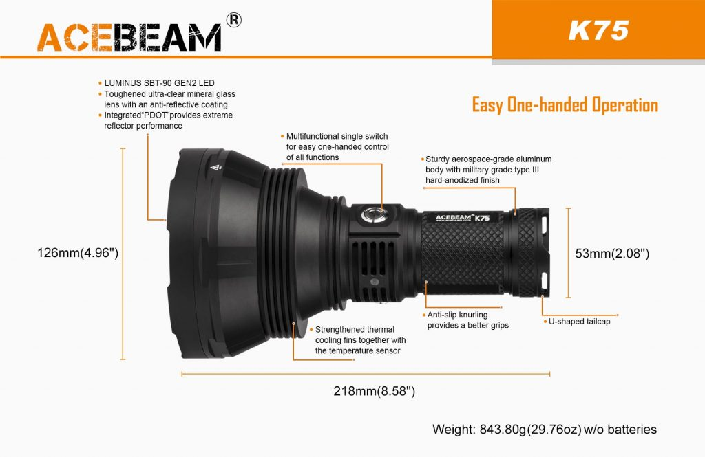 acebeam k75 searchlight