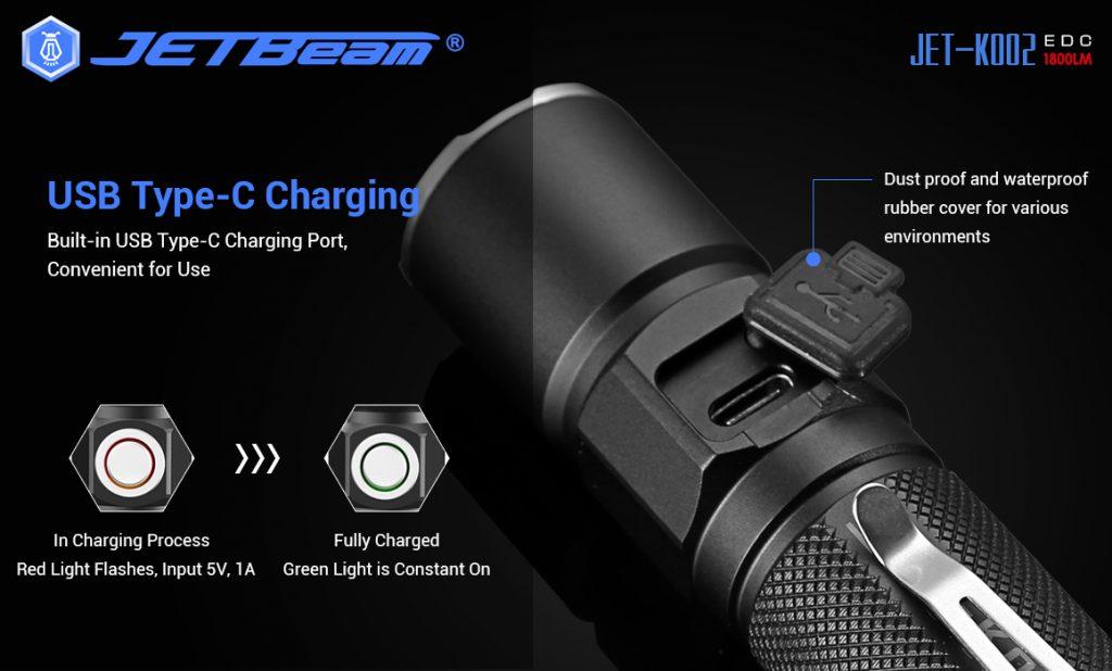 rechargeable tactical flashlight jetbeam ko02