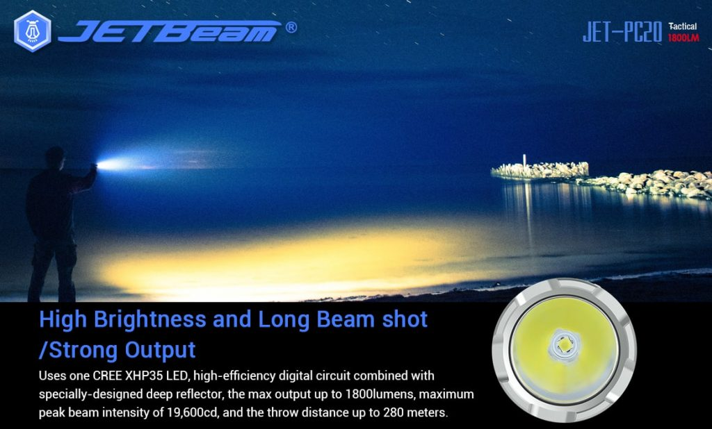 1800 lumen jetbeam flashlight