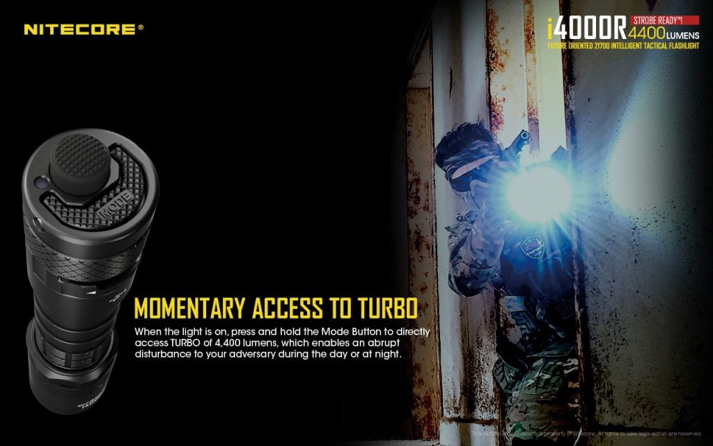 best tactical flashlight nitecore i4000r