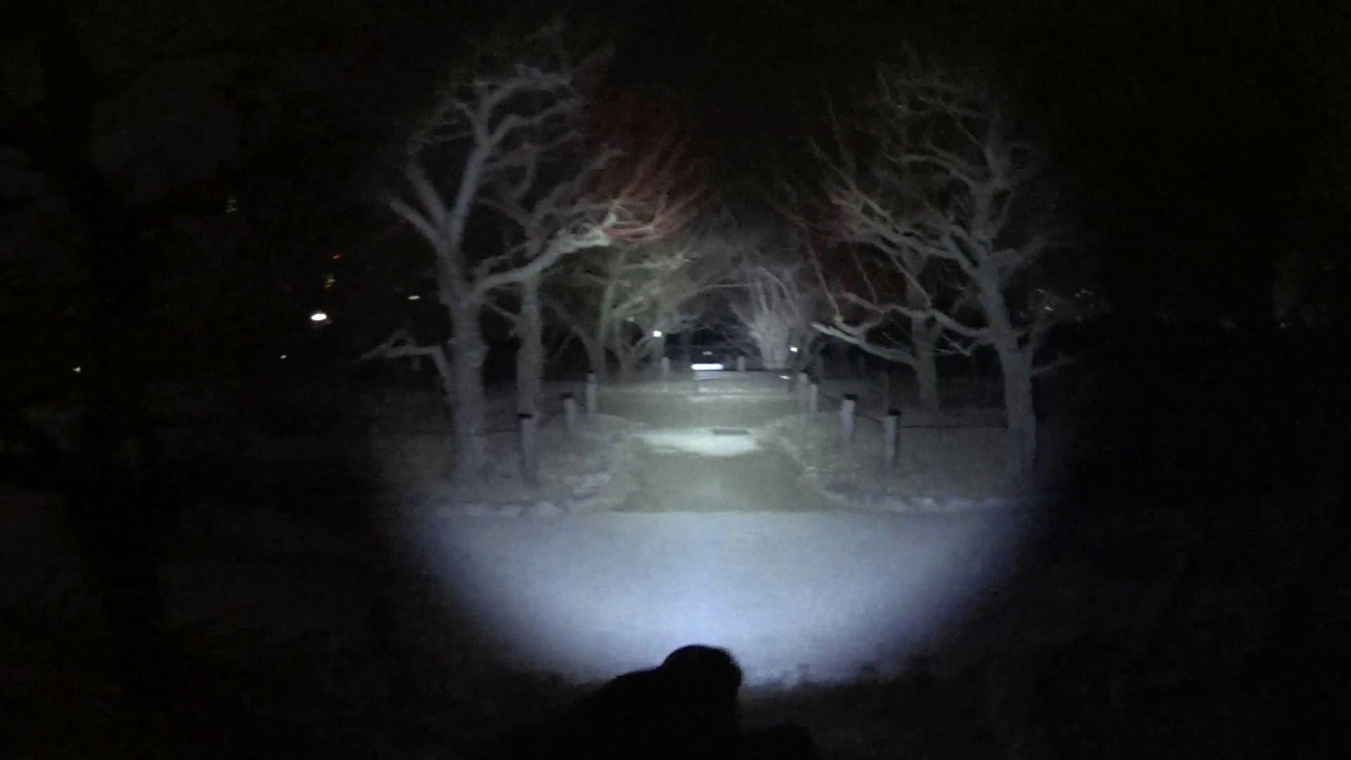 Nitecore P12 LED shining