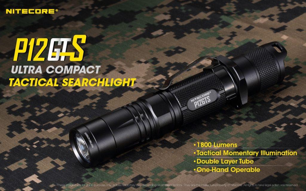 nitecore p12gts tactical flashlight