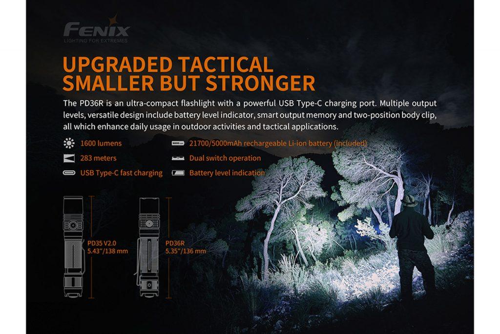Fenix PD36R USB Type-C Rechargeable Flashlight