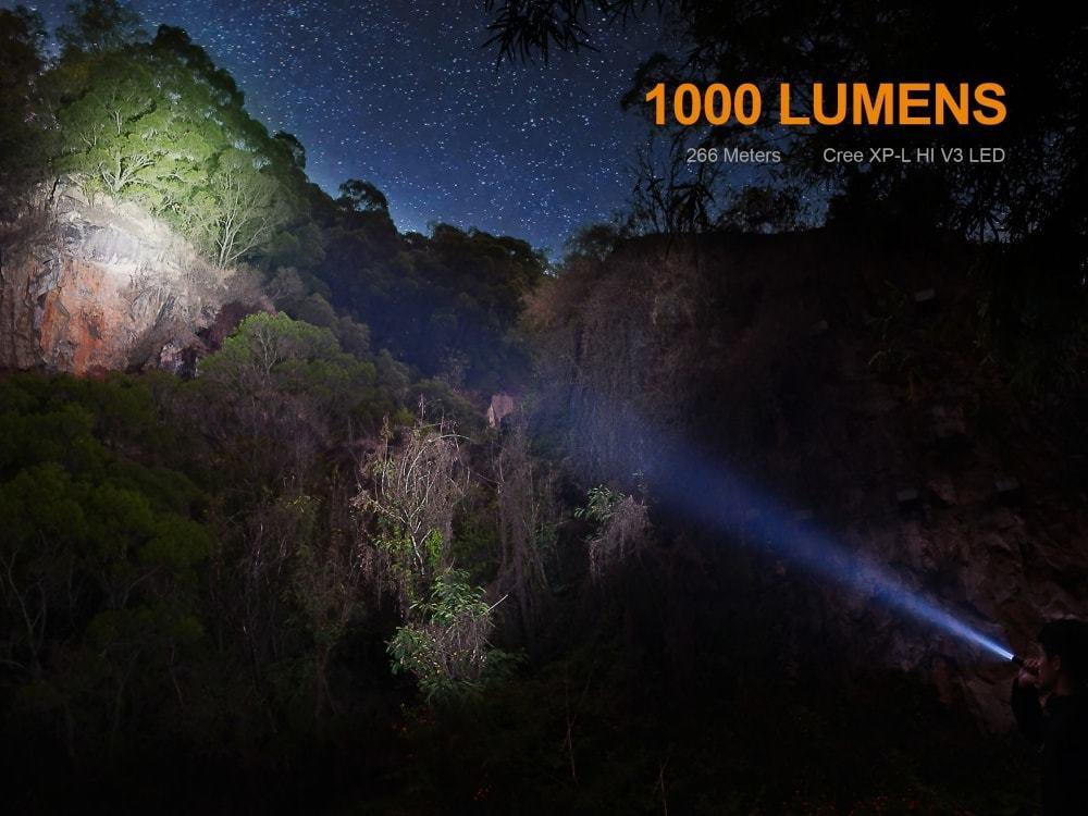fenix uc series flashlight brightness